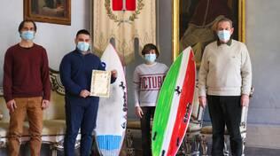 Il Sindaco di Lugo ha incontrato il surfista Riccardo Gennari