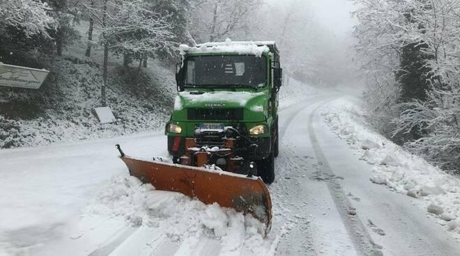 neve nella zona collinare di Cesena