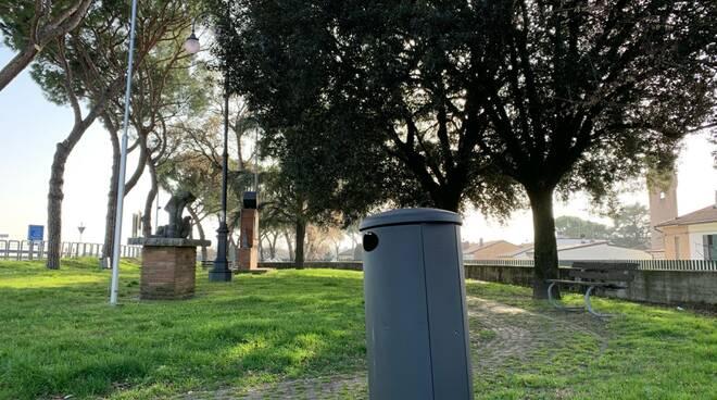 Cotignola-nuovo cestino rifiuti