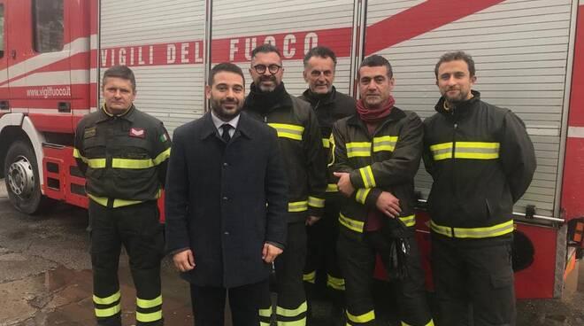 Ranalli e vigili del fuoco Lugo