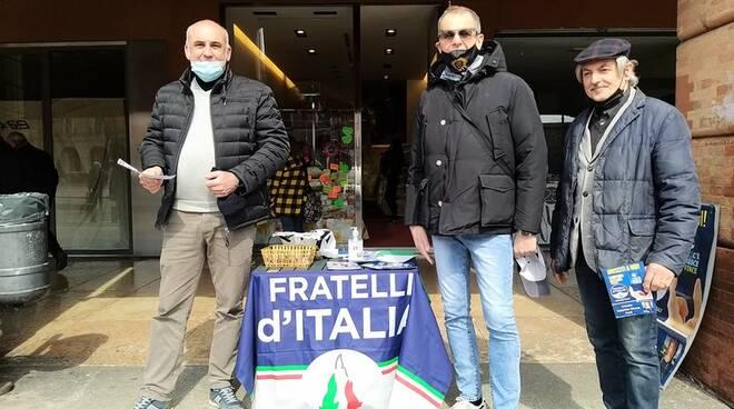 Banchetto Fratelli d'Italia a Forlì