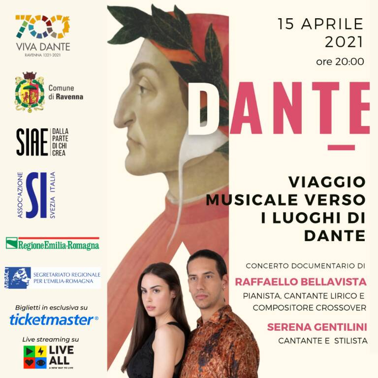 Dante 'viaggia' tra Ravenna e la Svezia con il concerto documentario di Bellavista e Gentilini