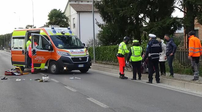 Incidente a San Pancrazio - scooter contro auto