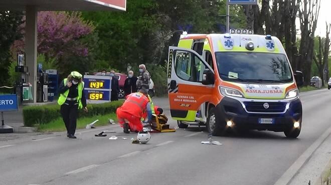 Incidente a San Pancrazio - scooter contro auto