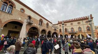 Manifestazione No Vax a Ravenna