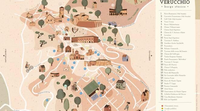 mappa storica verucchio