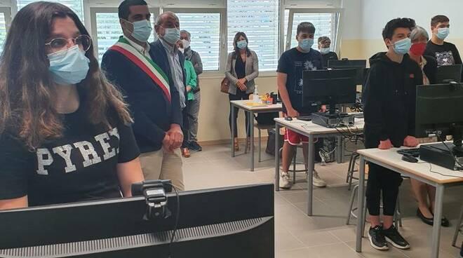 aula informatica scuola Lido di Dante