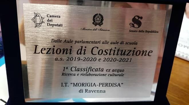 """L'Istituto Tecnico Morigia-Perdisa di Ravenna è tra i vincitori del concorso """"Lezioni di costituzione"""""""