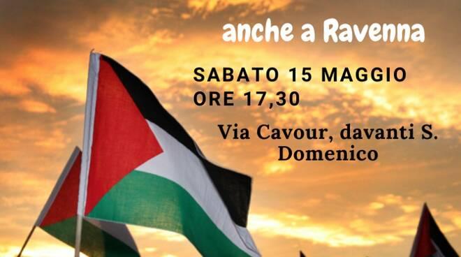 sit in a Ravenna per i diritti del popolo palestinese