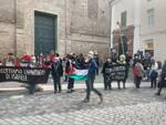 sit in per i diritti del popolo palestinese
