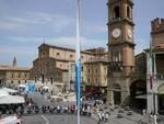Elisa Longo Borghini, sul traguardo di Faenza,a vestire la Maglia Tricolore di campionessa italiana Donne Elite a cronometro 2021