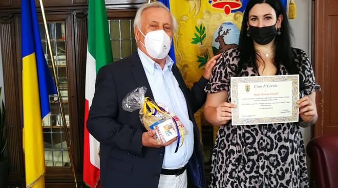 Il Vicesindaco Gabriele Armuzzi ha incontrato la scrittrice cervese Maria Vittoria Fariselli