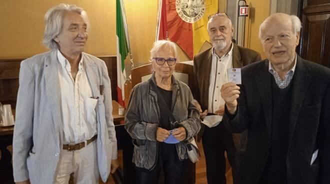 Marcello Landi, Mariella Busi, Giuliano Babini e Renato Barilli