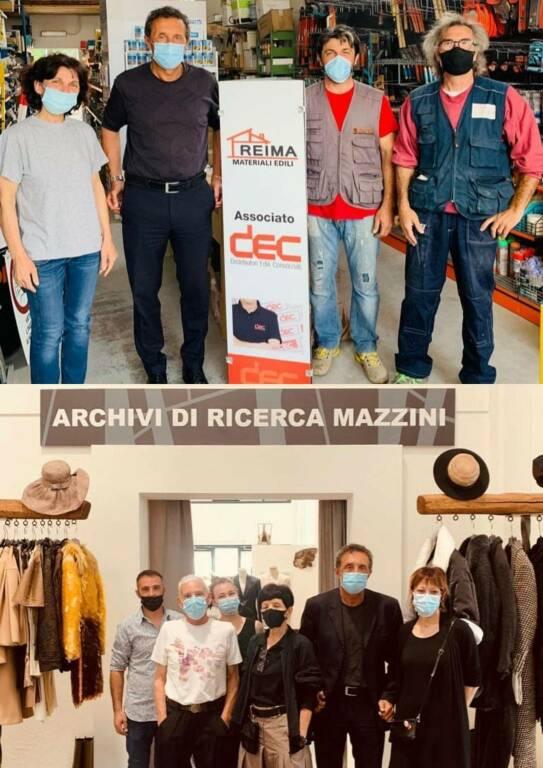 Massa Lombarda: il Sindaco Daniele Bassi visita gli archivi di ricerca Mazzini e l'azienda Reima