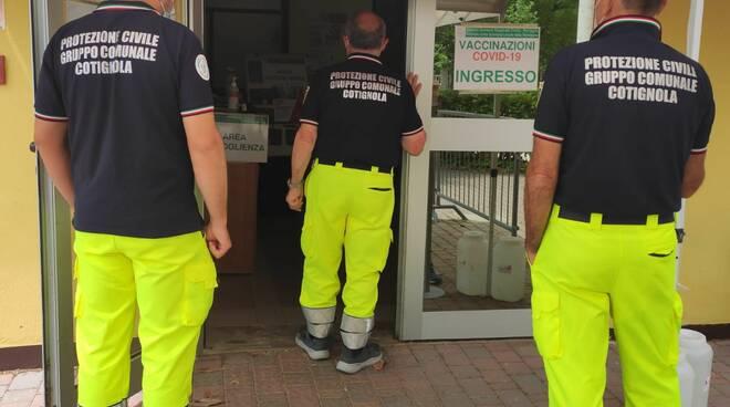 protezione civile Unione - Centro vaccinali