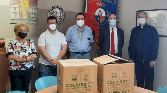 Sant'Agata sul Santerno: un aiuto ai più bisognosi grazie ai pacchi alimentari di Coldiretti