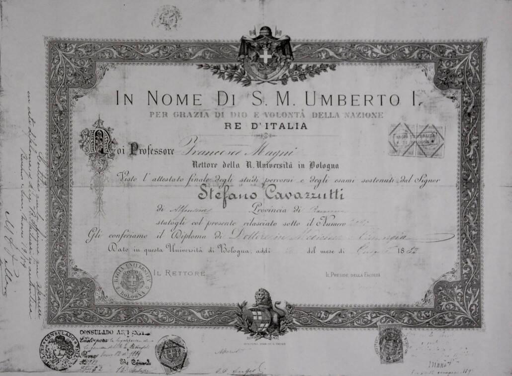 Diploma di Cavazzuti