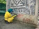parco della pace mosaico restaurato dall'accademia