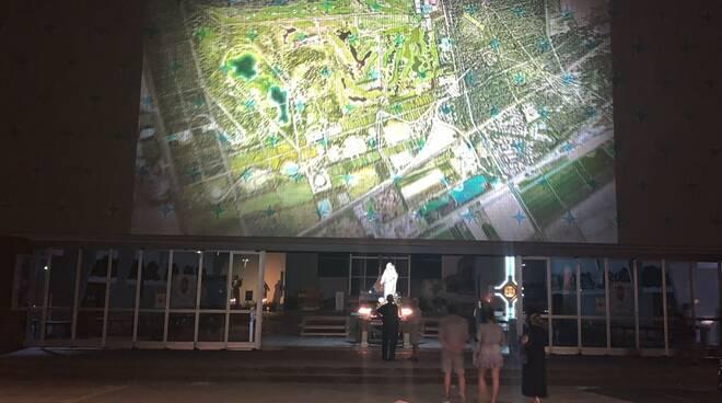 videomapping  nuovo Parco Urbano di Milano Marittima