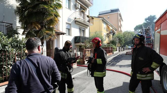 incendio  Via Bagioli ravenna