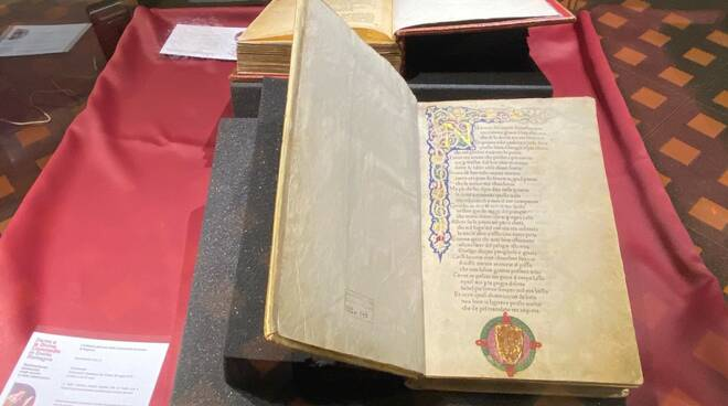 divina commedia - edizione conservata biblioteca frati minori ravenna