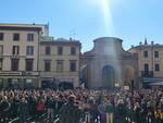 Manifestazione contro il Green pass in Piazza Cavour a Rimini