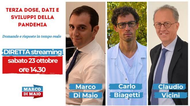 Terza dose, i dati sulla pandemia, il punto sull'emergenza: diretta Facebook con Di Maio, Vicini e Biagetti